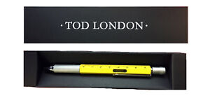 Tod London Level Pen Yellow with Ruler and Mini- Screwdriver