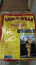 RainSuit Wear Heavy Duty PVC 3 Piece Work Safety  Yellow X Large  Raincoat