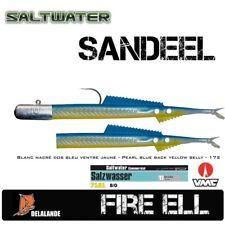 Seelachs Killer Sandaal DELALANDE FIRE EEL + VMC 7161TI 8/0 60g   Farbcode:172