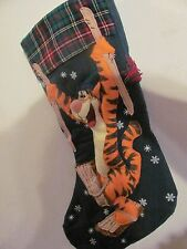 "Rare Disney ""Tiger on Skies"" 18"" Christmas Stocking."