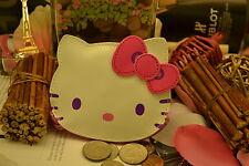 New Hello Kitty Kawaii Face Shape Coin Purse Wallet Bag