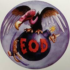 NEW Buzzard, Bomb & Pick Marine Explosive Ordnance Disposal (EOD) Logo Decal