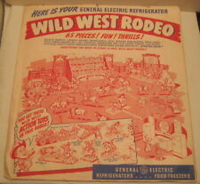 Old Western Wild West Rodeo Cut Out Advertising Gen Electric Promotional Toy