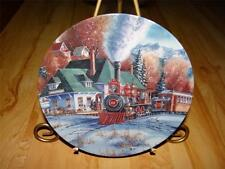 """""""Mountain Hideaway"""" TRAINS OF THE GREAT WEST Kirk Randle Bradford TRAIN Plate"""
