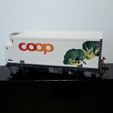 "BEMO 9469 115 0m Rhb  Narrow gauge RhB 2 axle chill container ""Broccoli"""