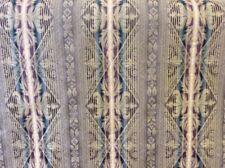 10 M Bronzo Color Foglia Di Tè Nero Viola Damasco a righe IGNIFUGO Tappezzeria Stoffa
