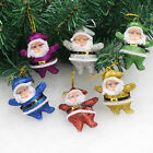 6pcs Christmas Santa Claus Ornament Xmas Hanging Decoration Decor Gift Toy.*