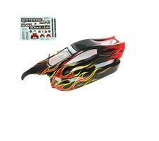 Redcat Racing Rampage XB-E Body Black with Red Flame ATV077-R