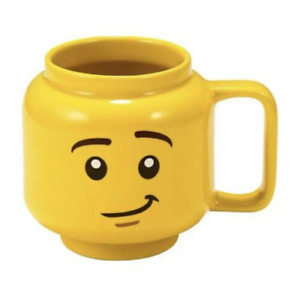 250ml Ceramic Cup Lego Mugs Smiling Expression Face Cartoon Coffee Milk Tea