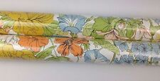 "Lot of 2 Sealed Vintage 28"" Wallpaper Rolls Floral Fower Power Retro 70s 60s NIP"