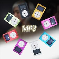 Mini USB Clip MP3 Music Player LCD Screen Support 32GB Micro SD TF Card ss