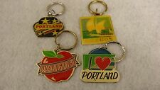 """""""Oregon"""" Themed Key Chains Pack of 4 Vintage (80's) Unused ! Old Inventory"""