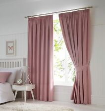 Fusion Dijon Blush Luxury Thermal Blackout Pencil Pleat Fully Lined Curtains
