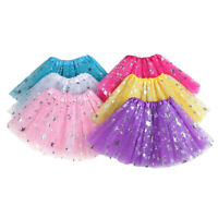 Toddler Kids Girls Baby Tulle Star Sequins Princess Tutu Skirt Outfits Costume
