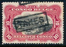 1915 Belgian Congo Stamp, #61, Postage Due Taxes partial double overprint, Mng