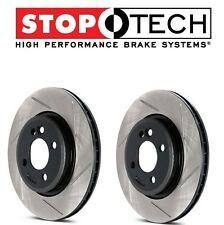 For Audi S4 S5 2008-2011 Pair Set of Front StopTech Slotted Brake Rotors