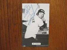 JIM  SPENCER  (Died in 2002) Chicago  White  Sox  Signed J. D. McCarthy Postcard