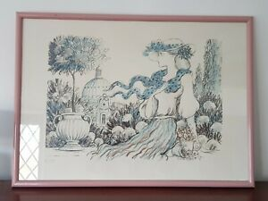 A Stunning Vintage 1970's/80's Print of Lady in Hat Ltd Edition 16/100 Unknown