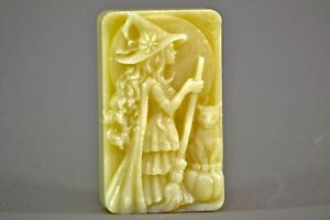 WITCH SOAP SILICONE MOLD  bar flexible hard duty mould SORCERESS