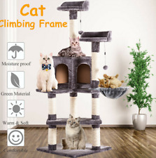 51''Cat Tree House Condo Activity Tower Pet Climbing Furniture w/Scratching Post