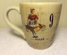 Williams Sonoma 12 Twelve Days Coffee Mug 7 8 9 Christmas Tea Cup Replacement