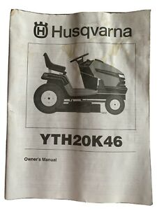 """HUSQVARNA YTH20K46 TRACTOR WITH 20 HP KOHLER ENGINE 46"""" DECK OWNERS PARTS MANUAL"""