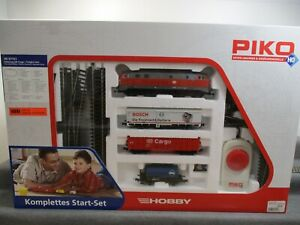 Piko H0 57151 Start-Set mit Güterzug der DB-Cargo BR 218 296-2 Analog DSS in OVP