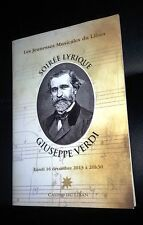 Soirée Lyrique Giuseppe Verdi Lebanese Casino Du Liban Theater Program 2013