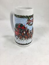 2009 Budweiser Holiday Ceramic Stein A Holiday Tradition - Preowned