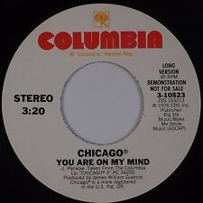 CHICAGO: You Are On My Mind COLUMBIA '76 DJ Promo LONG SHORT 45 NM-