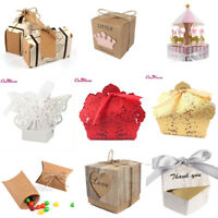 Wedding Sweet Cake Candy Boxes Gift Box Birthday Party Favour Baby Shower Favor