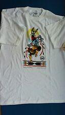T-Shirt Native American 100%Cotton White XL 1997 Apache Fire Dancer Vintage