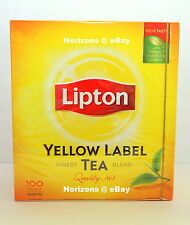 3 x LIPTON   - YELLOW LABEL TEA  7oz/200g (Total 300 Teabags)