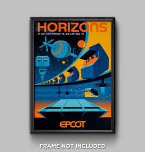 EPCOT Horizons Poster Print Disney World Future World Showcase Decor 3217