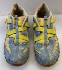 Diesel Explorer Women 8 Sneakers Shoes Blue Yellow Strap Lace