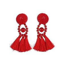 Women Fashion Bohemian Earrings Vintage Long Tassel Fringe Boho Dangle Jewelry
