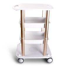 New ABS Beauty Salon Stand Trolley Styling Pedestal Rolling Cart Roller Table
