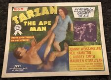 TARZAN THE APE MAN TC R54 great image of Johnny Weismuller & Maureen O'Sullivan