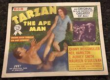 TARZAN THE APE MAN TC R54 great image of Johnny Weismuller & Maureen O'Sullivan
