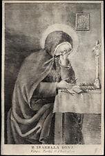 santino incisione 1800 B.ELISABETTA BONA DI REUTE