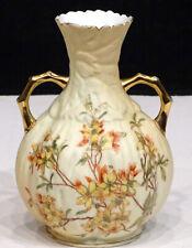 Antique ROYAL RUDOLSTADT Victorian ART NOUVEAU Hand Painted FLOWER Ewer Vase