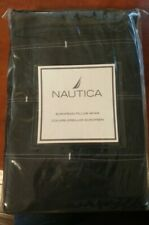1 New Nautica European Pillow Sham Lansing Stripe Navy Blue Pink
