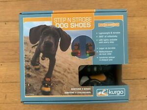 Kurgo Step N Strobe Dog Shoes Water Resistant Dog Boots XXS