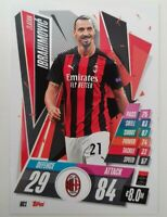 2020/21 Match Attax UEFA Champions League - Zlatan Ibrahimovic Card AC Milan