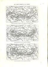 WWI 1914 Map Carte Bataille de la Marne Deutsches Heer France  A ILLUSTRATION