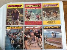 6 Vintage 1972 - 1974 Bicycling! Magazines