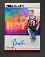 2016-17 Hoops Hot Signatures Red #27 Raul Neto Auto /25 - NM-MT