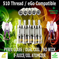 2.0 ML Large Glass Ceramic Oil Refill Top For The 510 Thread No Wick Wickless