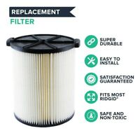 Washable Reusable VF4000 Filter For Ridgid 72947 WD5500 WD0671 RV2400A RV2600B
