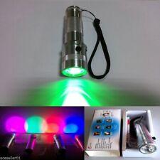 3W RGB 10 Farbwechsel Taschenlampe RGB LED Multicolor Fackel Stirnlampen Lampen